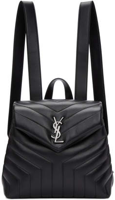 Saint Laurent Black Small Loulou Backpack