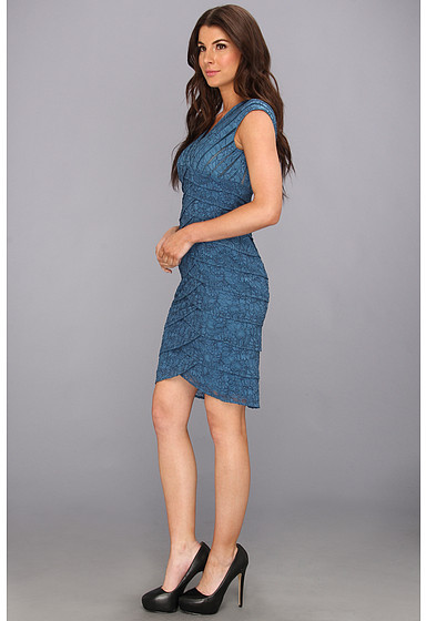 Adrianna Papell Lace Shutter Dress