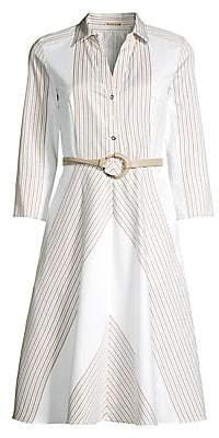 Elie Tahari Women's Candence Belted Midi Dress