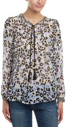 Hale Bob Embellished Neck Silk Tunic