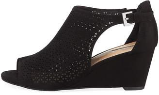 fa0d0e96e7fc Elie Tahari Stage Perforated Peep-Toe Wedge Sandals