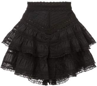 Zimmermann tiered mini skirt