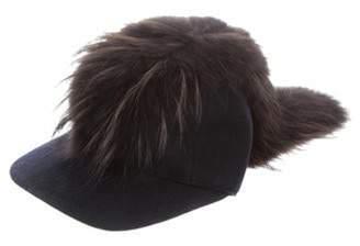 Fendi Wool Baseball Cap w/ Tags Navy Wool Baseball Cap w/ Tags