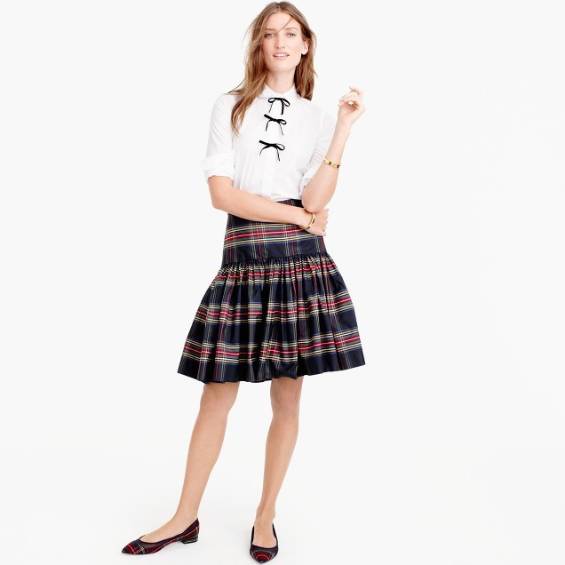 J.CrewTaffeta skirt in Stewart plaid