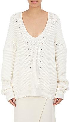 Acne Studios Women's Chunky V-Neck Sweater $580 thestylecure.com