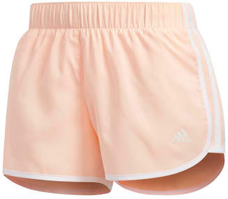 adidas Womens M10 Icon Shorts Orange XS