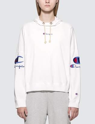 Champion Reverse Weave Sleeves Logo Hoodie