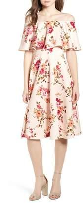 Soprano Off the Shoulder Midi Dress