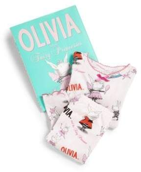 Books To Bed Toddler's& Little Girl's Olivia& The Fairy Princess Pajamas& Book Three-Piece Set