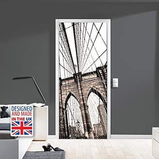Mural WALPLUS WD10031 Brooklyn Bridge Door Mural, Vinyl, Multi-Colour, 103 x 5.4 x 5.4 cm