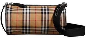 Burberry Small Kennedy Vintage Check Canvas Duffel Bag