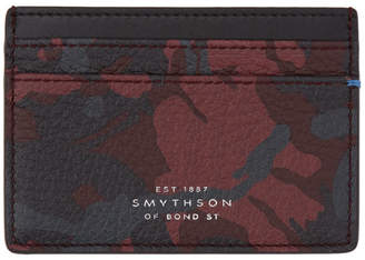 Smythson Red and Black Camo Burlington Card Holder