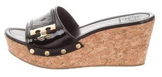 Tory Burch Patent Leather Slide Sandals