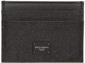 Dolce & Gabbana Black Leopard Card Holder