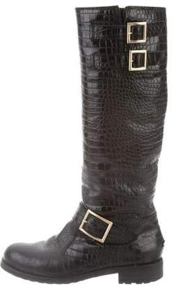 Jimmy Choo Shearling-Lined Knee-High Boots
