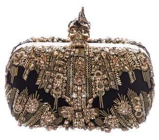 Alexander McQueen Glory Ice Embellished Skull Box Clutch