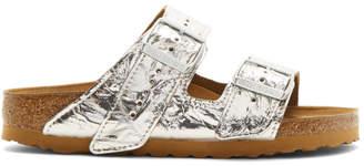 Rick Owens Silver Birkenstock Edition Regular Arizona Sandals