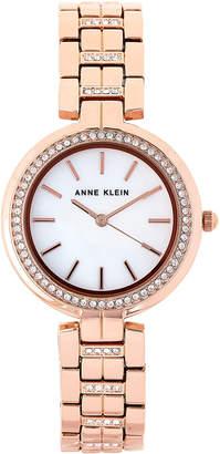 Anne Klein AK/2968 Rose Gold-Tone Crystal Watch