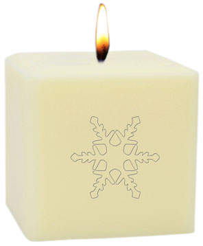 "Carved Solutions 3"" Eco-Luxury Snowflake Soy Candle"