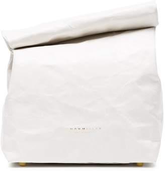 Simon Miller White Lunchbag 20 Leather Clutch Bag
