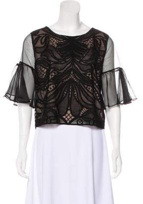 Alexis Embroidered Short Sleeve Top
