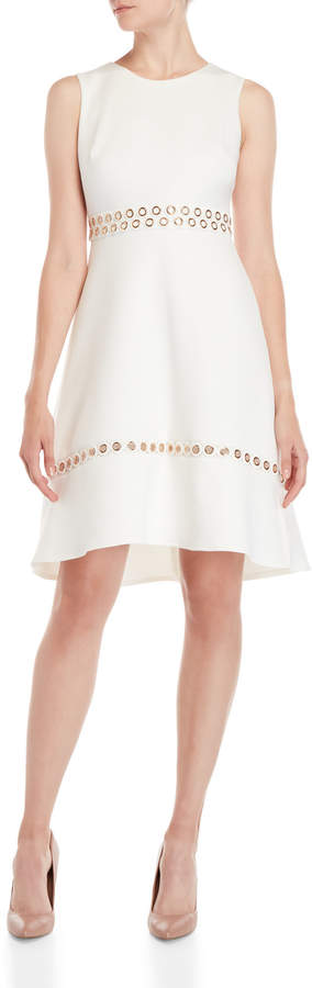Dkny Grommet Trim Fit & Flare Dress