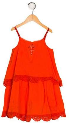 Catimini Girls' Embroidered Sleeveless Dress