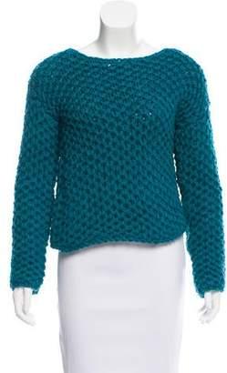 Reed Krakoff Open-Knit Wool Sweater