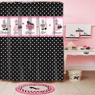 HOMEWEAR Glamour Girl Polka Dot Shower Curtain