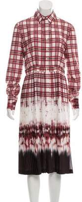 Altuzarra Plaid Dip-Dye Shirt Dress w/ Tags