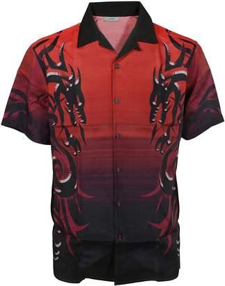 Lanvin Dragon Tribal Bowling Shirt