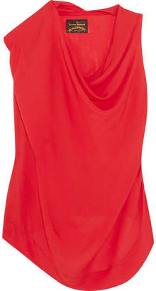 Vivienne Westwood Anglomania - Duo Draped Voile Blouse - Red
