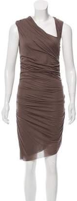 Helmut Lang Draped Bodycon Dress