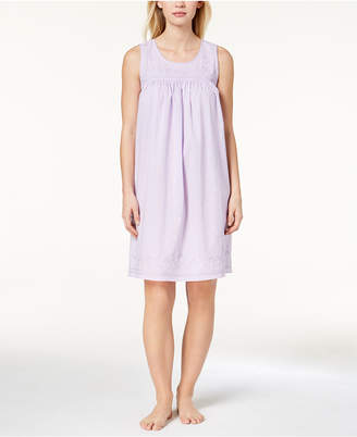Charter Club Woven Embroidered Nightgown