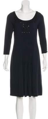 Max Mara Weekend Long-Sleeve Midi Dress