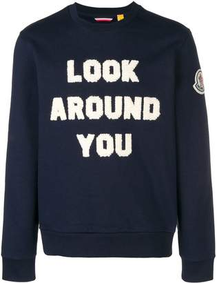 Moncler flocked sweatshirt