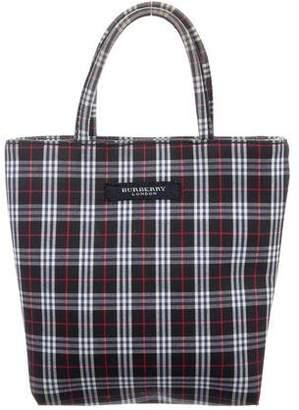 Burberry Woven Handle Bag