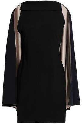 Alice + Olivia Neely Cape-Back Crepe Mini Dress