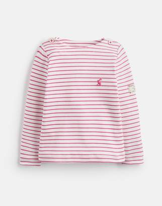 Joules BRIGHT PINK STRIPE Harbour stripe JERSEY TOP 1-6yr Size 18-24m