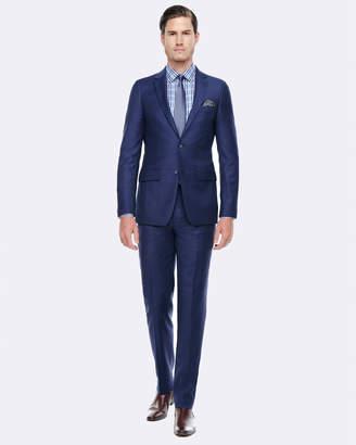 Geoffrey Blue Slim Fit Wool Suit