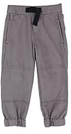 Stella McCartney Kids' Cotton Twill Utility Pants-Gray