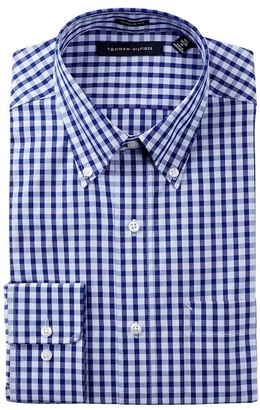 Tommy Hilfiger Check Regular Fit Dress Shirt $59.50 thestylecure.com