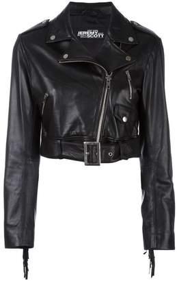 Jeremy Scott cropped biker jacket