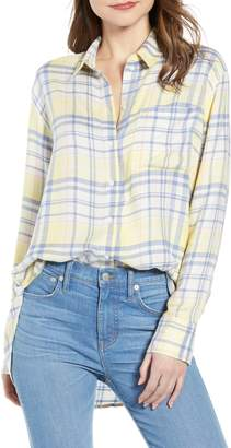 Treasure & Bond Plaid Boyfriend Shirt