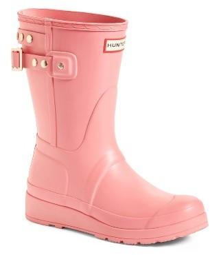 Women's Hunter Original Short Adjustable Back Rain Boot $165 thestylecure.com