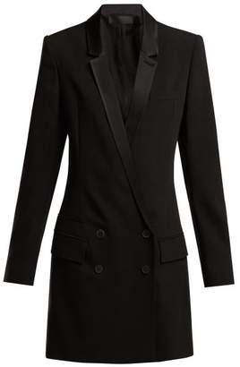 Haider Ackermann Cosmos Wool Blend Tuxedo Dress - Womens - Black