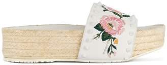 Paloma Barceló embroidered floral slides
