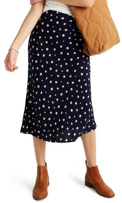Madewell Midi Slip Skirt in Daisy Dots