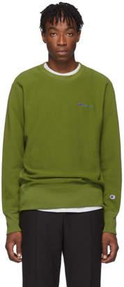 Champion Reverse Weave Green Small Script Sweatshirt