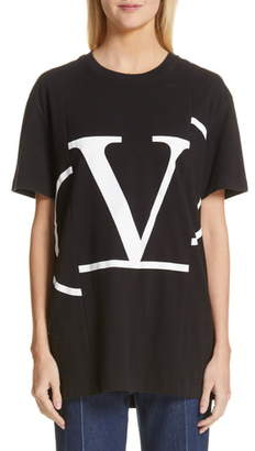 cc56a0f4a Valentino Reconstructed Logo Tee